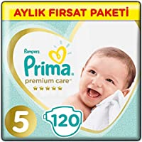 Prima Bebek Bezi Premium Care 5 Beden Junior Aylık Fırsat Paketi, 120 Adet