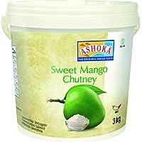 Ashoka Mango Chutney, Original - Paquete de 4 x 3000 gr - Total: 12000 gr