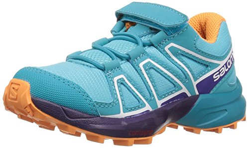 Salomon Unisex-Kinder Speedcross Bungee K Traillaufschuhe, Blau (Blue Curacao/Acai/Bird of Paradise 000), 26 EU -
