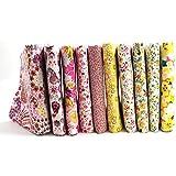 "Raylinedo® 10pcs diferente patrón Multi Color 100% algodón popelín Tela Fat Quarter Bundle 18""x 22"" diseño de patchwork de tela para almazuela"