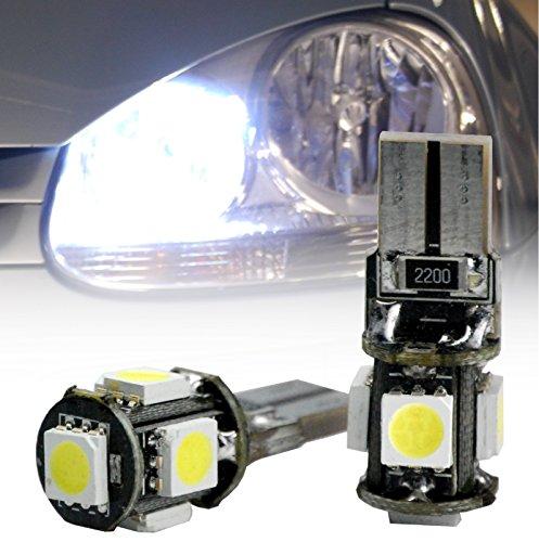 L & P B505 2 x T10 W5 W Canbus 5 x 5050 SMD LED look xénon feux de position Park lumière blanc, sans erreur