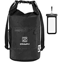 ZANMAX Bolsa Seca 100% Impermeable + Bolsa de Teléfono Correa Larga Ajustable para Barco, Kayak, Pesca, Rafting, natación, Acampada