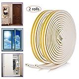 16M Finestra della porta, OIZEN Anti-collisione gomma schiuma sigillo striscia insonorizzazione bobina impermeabile guarnizion per di porte e finestre, profilo D