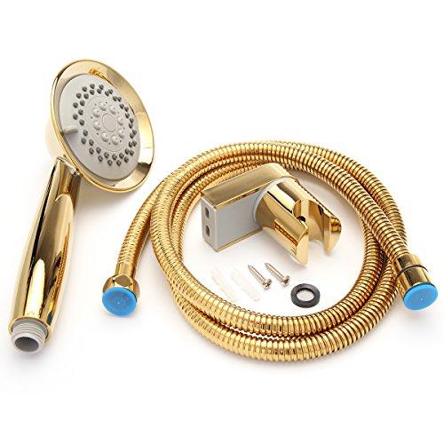 Europäischen Stil Gold Rainfall Kopfbrause Filtration Wasserspar Handbrause mit Brauseschlauch BrausekopfHolder