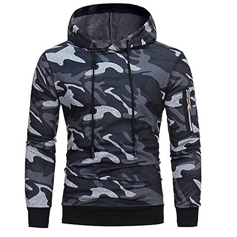 Veste Manteau Outwear Pour des homme, Malloom Manche longue Camouflage