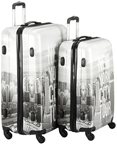 Fabrizio Gepäckset, New York, 10247-2800 Koffer-Set, 78 Liter, Hellgrau