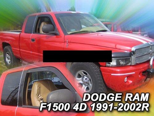 ZentimeX Z964985 Windabweiser Regenabweiser Acrylglas dunkelgrau für VORNE (Dodge Ram 1500 1998)