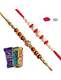 Maalpani Rakhi Chocolate Gift Hamper for Rakshabandhan Brother, Sister, Love Multicolor Small (Set 1)