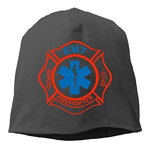 Doormat bag EMT Firefighter Maltese Cross Fashion Unisex Hedging Cap Knitted Hat (Cross Firefighter)