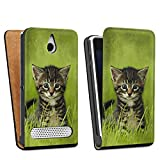 Sony Xperia E1 Sacoche Housse de Protection Walletcase Bookstyle Bébé chat Kitten Chat