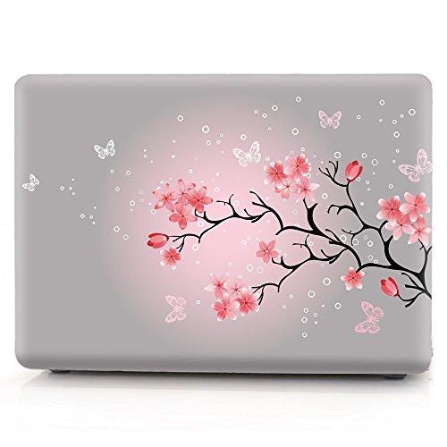 L2W MacBook Air 13 Hülle Zubehör Laptop Plastik Hartschale Tasche Schutzhülle für Apple MacBook Air 13 Zoll Modell A1466/A1369 Sakura - 13