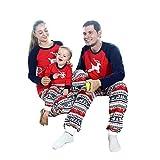 Baywell Pigiami Natale Famiglia,Stampa Natale Famiglia Matching Pigiama Set Xmas Pantaloni e T-Shirt Manica Lunga Top per Mamma papà Bambino (papà, M/180)