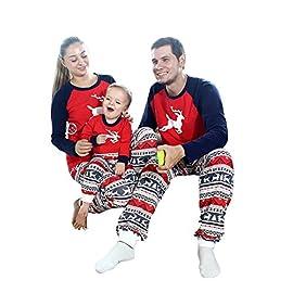 Cappello Pantaloni Neonato Maglione Natale Stampato Letter Cotone Pullover Bambine e Bambini Pigiama Costume per la Casa Christmas Set Tops