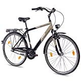 28' Zoll Cityrad Herrenrad Fahrrad KCP TOURY mit 3G SHIMANO NEXUS & Rücktritt nach StVZO schwarz oliv