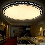 conducido cristal de salón dormitorio de techo redondo con la promesa de atenuación moderna minimalista PS6257 ambiente cálido (PS6257-66W, sin escalonamientos de regulación) ( Tamaño : Blanco cálido )