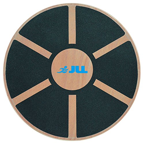 JLL® Wooden Balance Board, ANTI SLIP SURFACE, Exercise Fitness Workout Rehabilitation Training Exercise Wobble Board Test