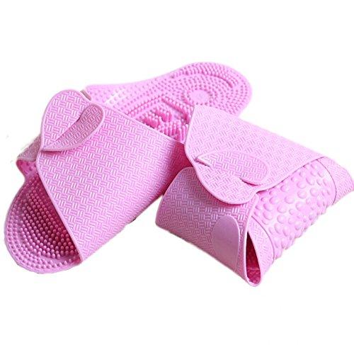 Voyage Accessoires Avion chaussons pliable massage chaussons -Pink