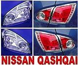 Nissan Qashqai Chrom Scheinwerfer + Heckleuchten Rahmen