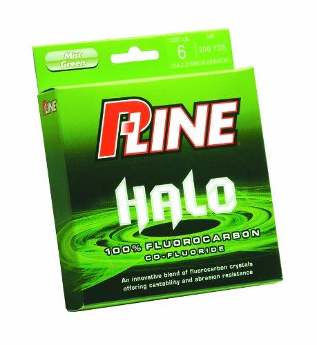P-Line Halo Fluorocarbon Mist Grün Angelschnur 200YD (Filler Spule), farblos