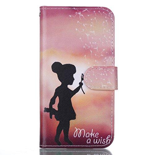 iPhone X hülle, Voguecase Kunstleder Tasche PU Schutzhülle Tasche Leder Brieftasche Hülle Case Cover für Apple iPhone X(dreaming 04) + Gratis Universal Eingabestift Kleines Mädchen