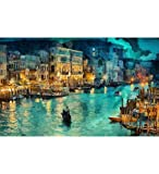 "Tallenge - Beautiful View of Venice - Large Size Ready To Frame Premium Quality Rolled Digital Art Print On Photographic Paper (22""x33"")"