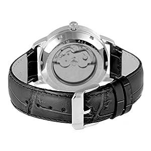 ALEXANDER MILTON Automatikuhr, Edelstahl - Modell FIDES - schwarz/silber