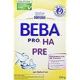 Nestlé BEBA PRO HA Pre| Babymilch zum Zufüttern für Säuglinge | Mit ungesättigten Fettsäuren Omega 3 (LCP) | Wissenschaftlich geprüfte Anfangsnahrung | Reduziert Allergierisiko | 6er Pack (6 x 550 g)