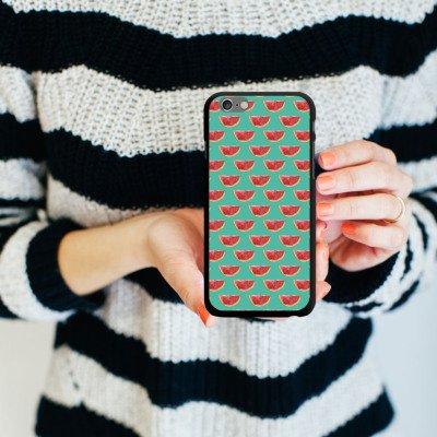 Apple iPhone 5 Housse étui coque protection Pastèque Motif Motif CasDur noir