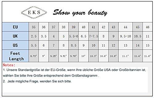 EKS Damen Stilett Runde Plattform Hochzeit Pumps Grün