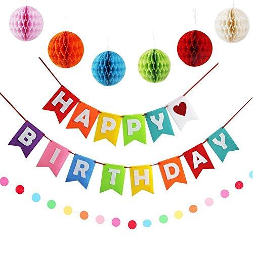 Geburtstagsdeko, Kindergeburtstag deko, Girlanden geburtstag Geeignet für Geburtstagsfeiern jeden Alters - Mehrfarbig Farbe