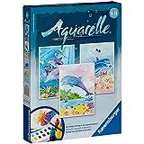 Ravensburger 29310 Delfines - Set de acuarelas con motivos para colorear (18 x 24 cm) [importado de Alemania]