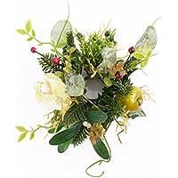 Anello artificiale per candele XXL con fiore di orchidea, mela
