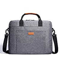 "KALIDI Laptop Bag 15.6 Inch Laptop Shoulder Messenger Bag Case Sleeve Waterproof Shockproof for 15""~15.6"" Laptop,Grey"