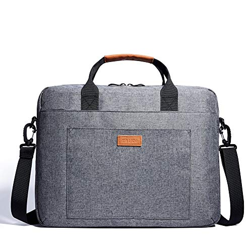KALIDI 15 Zoll Laptoptasche Aktentaschen Handtasche Tragetasche Schulter Tasche Notebooktasche Laptop Sleeve Laptop hülle für bis zu 15.6 Zoll Laptop Dell Alienware/MacBook/Lenovo/HP (Grau) - Dell Hp-computer