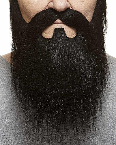 Und Schnurrbart Schwarze Kostüm Bart - Mustaches Schwarzer fälschen, selbstklebend Bart und Schnurrbart eines Lords