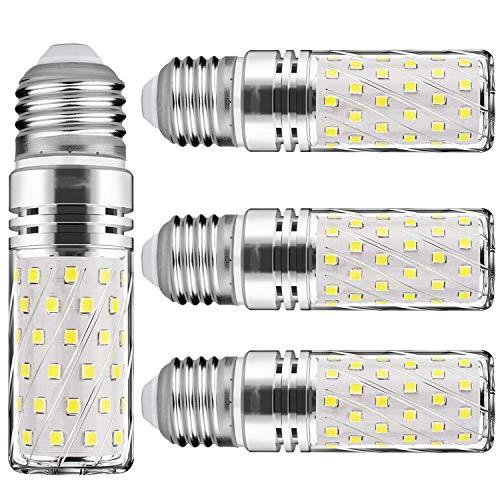 E27 LED kaltweiss Tageslichtweiß 15W Mais Glühbirnen E27 Nicht dimmbar 6000K Kaltweiß 1500Lm Kleine Edison-Schraube Kerze Leuchtmittel Led Maiskolben Entspricht 120W Glühbirnen(4er-Pack)