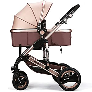 wiseson four tires do not need to inflatable strollers 2016 Stroller Travel System stroller size 85 * 41 * 111 cm leadership khaki dark blue pink purple blue   2