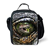 Best Thermos Lunch Boxes For Boys - Showudesigns Cool Dinosaur Eye Lunch Shoulder Bags Kids Review