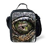 Showudesigns Cool Dinosaur Eye Lunch Shoulder Bags Kids Boys School Food Box