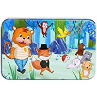 Esercizio Jigsaw Puzzle Wooden Story Puzzle Early Learning Toy Bambini (Fox  e Tiger) f6933e42f99