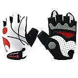 BU-SOH Gants d'équitation Gants de Gymnastique sans Doigts de la Mode en Plein air pour entraînement de Remise en Forme à vélo 1 Paire Gants d'équitation pour Homme (Size : XXL)
