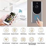 Türklingel Kamera WiFi mit Bewegungsmelder, Video Türklingel, Wireless Smart Türklingeln, 720P Home Security Kamera, Echtzeit-Video, Zwei-Wege-Gespräch, Nachtsicht, App-Steuerung für IOS/Android