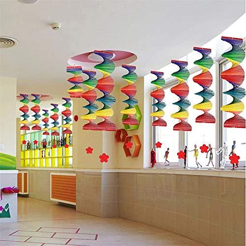 18 Neue Bunte Hause wisted Regenbogen Windspiel anhänger Outdoor Garten Ornament Dekoration DIY anhänger (Größe : L) ()
