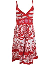 Universal Textiles Womens/Ladies Large Paisley Pattern Strappy Crossover Summer Dress