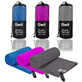 """Giwil Microfibre Beach Towel, Travel Sports Towel Ultra Absorbent and Quick Dry Towel (XL 70"""" X 35"""") Compact/Lightweight Swimming Towel for Backpacking, Camping, Gym, Bath (Bule)"""