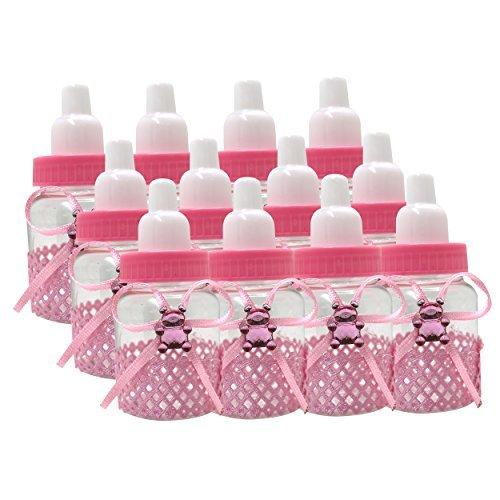 Baby Dusche Party Dekoration / Geschenk Nachfüllbar Geschenk Flaschen 12er Pack - 12 Rosa x (Nachfüllbar Baby-flaschen)