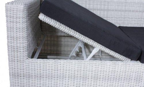 Multi Sofa Gartensofa mit Kissen Poly-Rattan, white wash - 5