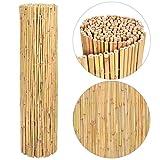 vidaXL Gartenzaun Bambus 300x150cm Sichtschutzzaun Windschutz Bambusmatte