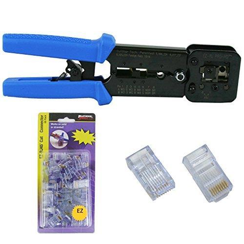 Platinum Tools 100054 EZ-RJPRO HD Crimp Tool, Jar EZ-RJ45 Cat5/5e 50 Connectors by Platinum Tools