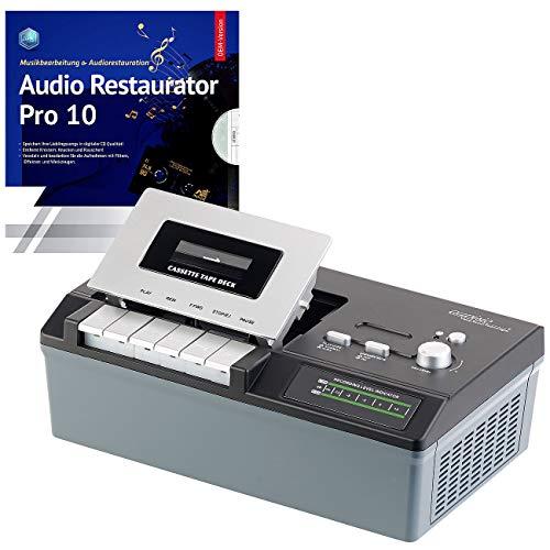 auvisio Kassettendigitalisierer: USB-Kassetten-Player UCR-2200 zum Abspielen & Digitalisieren (Tonbandkassetten digitalisieren)